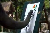 Elephant Paints Self Portrait